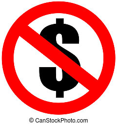 No money sign - No money dollar sign