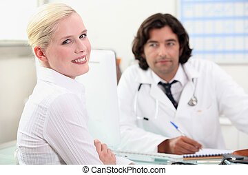 woman consulting her doctor