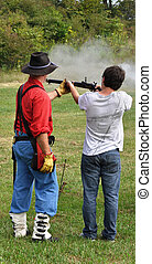 Civil war re-enactment - gun safety