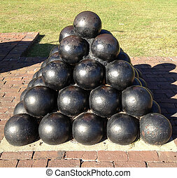 Charleston Cannon Ball Statue