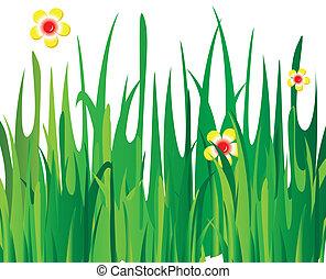 Green vector grass