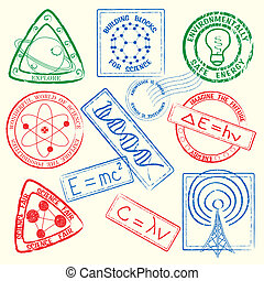 Science Stamps Set