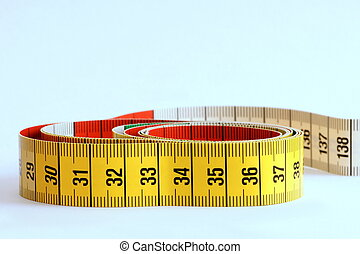 Measuring Tape - Yellow measuring tape with black numbers