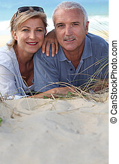 Portrait of holidaymakers at the beach