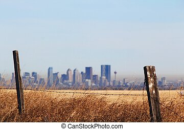 Downtown Calgary and the Prairies - A view of downtown...