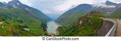 reservoir panorama kaprun - large reservoir panorama kaprun...