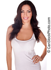 Slender Woman With Lovely Smile