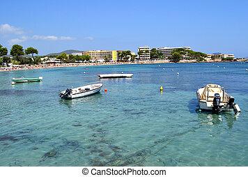 Beach in Ibiza - Spain - Es Cana Beach in Ibiza - Spain