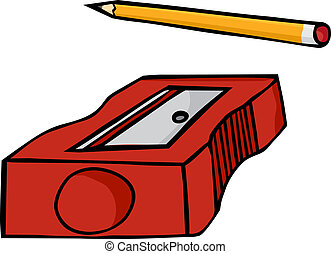 Pencil and Sharpener - Pencil and plastic pencil sharpener...