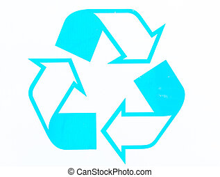 Photos recycling symbol - Photos of the symbols of the uses...
