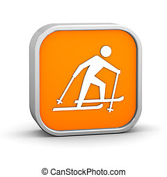Cross country skiing sign