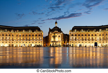 Place de la Bourse in Bordeaux - Place de la Bourse in the...