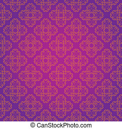 Vintage Wallpaper Seamless Pattern Original Design - Vector...