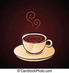 Coffee Cup - Hand Drawn Coffee Cup Vector Illustration