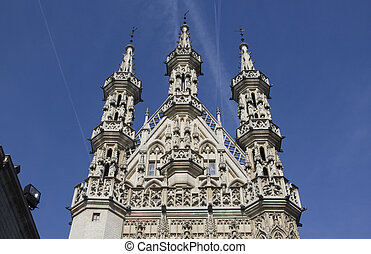 Leuven City Hall, Belgium - City Hall of Leuven (Louvain) in...