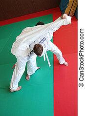 Judo throw.
