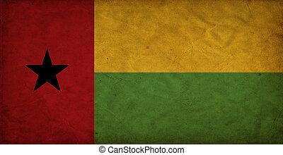 Guinea-Bissau grunge flag