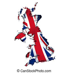 Water splash by concept of United Kingdom