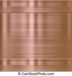 copper metal background texture - very finely brushed copper...