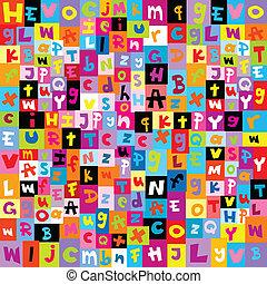 Padrão, letras, alfabeto