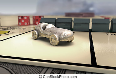 Iconic Boardgame Car (light) - A boardgame car resemblance...