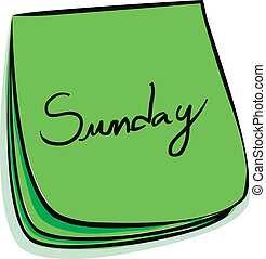 Sunday Note - Daily Post-It Notes With Handwritten Monday...