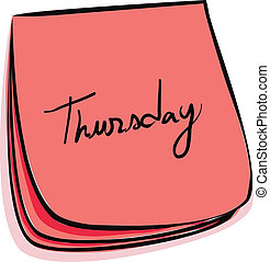 Thursday Note - Daily Post-It Notes With Handwritten Monday...