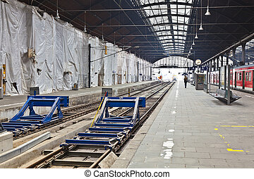 railway station in Wiesbaden - classicistical railway...