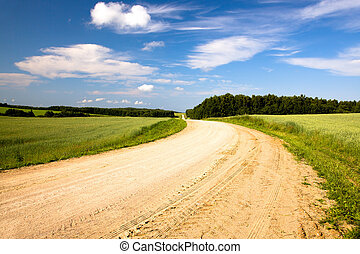 rural road summer - not asphalted rural rural road to...