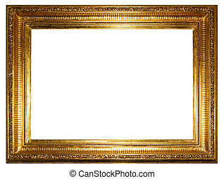 Golden photo frames. clipping path!