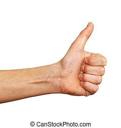 mão, sinal
