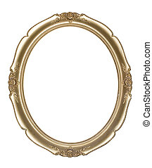 Oval photo frame Clipping path