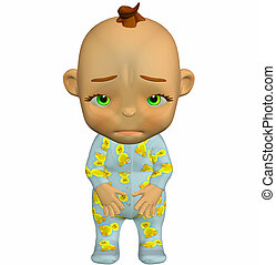 Sad baby cartoon