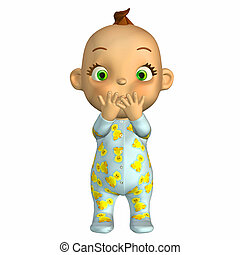 Naughty baby cartoon - Illustration of a naughty baby...
