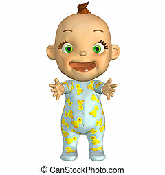 Happy baby cartoon