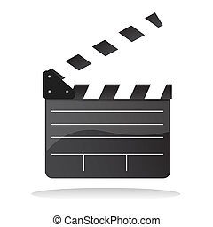 Directors cut clap board - Isolated illustration of director...