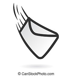 Fast mail icon - Illustration of fast delivered web mail