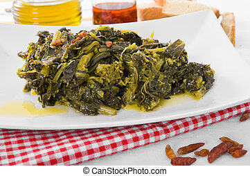 Stewed turnip greens
