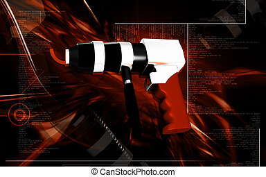 Reversable air drill - Digital illustration of Reversable...