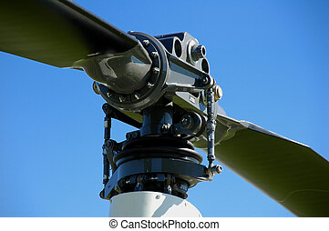 Helicopter rotor closeup