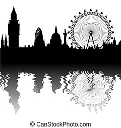 vector London skyline - Image of the panorama of London -...