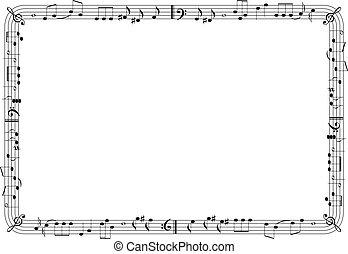 musical, gráfico, Quadro
