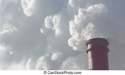 Industrial Chimney And Air Pollutio - Industrial chimney...