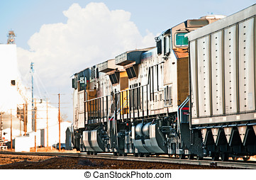 Freight Train Returning Empty Coal Cars - Northbound freight...