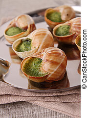 bourgogne snails  - bourgogno snails with butter and parsley
