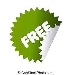 Free green sticker button