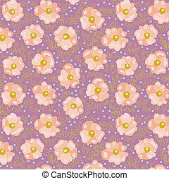 Pink flowers - A seamless texture of abstract pink flowers...