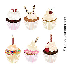 cupcakes - set of delicious cupcakes