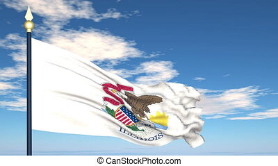 Flag of the state of Illinois USA