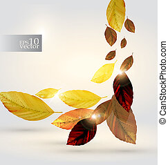 Leaves design - Editable vector design